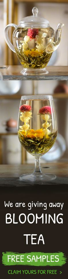 We are giving away FREE samples of our organic blooming tea. It's a great gift idea for Christmas or for hosting a dinner party. Claim yours now, for free :)