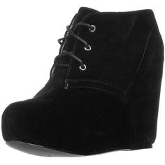 Even&Odd Wedge boots (365 VEF) ❤ liked on Polyvore featuring shoes, boots, heels, wedges, zapatos, black, women's footwear, kohl shoes, black wedge shoes and black shoes