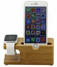 Apple Watch StandSuposun Newest iWatch Bamboo Wood Charging Stand Cradle HolderSpecial Design for Apple Watch  Sport  Edition For Apple watch 38cm42cm and iPhone 5  5C  5S  6  66S Plus Etc >>> Want to know more, click on the image.