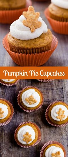 Pumpkin Pie Cupcakes that taste just like pumpkin pie! #ad #CookWithPurpose @frontiercoop @mambosprouts