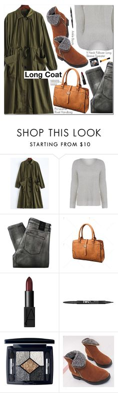 """""""Long Coat"""" by oshint ❤ liked on Polyvore featuring 2nd Day, NARS Cosmetics, Charlotte Russe and Christian Dior"""