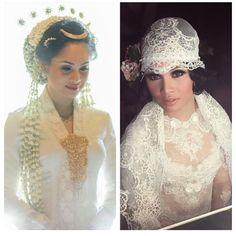 Beautiful make up in traditional and modern wedding dress, Andien !