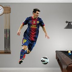 FC Barcelona Lionel Messi  2013 Fathead 39W x 65H Huge -- Home decor details can be found by clicking on the image.