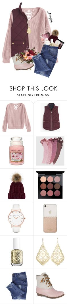 """Fall Contest"" by pinkrasberry ❤ liked on Polyvore featuring J.Crew, Yankee Candle, Gucci, Accessorize, Abbott Lyon, Kate Spade, Essie, Kendra Scott, Sperry and Hueb"