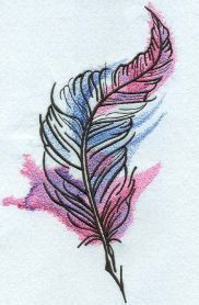 mixed colors feather machine embroidery design. Machine embroidery design. www.embroideres.com