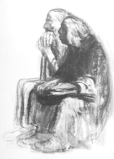 Self Portrait With Karl Kollwitz, 1942. Lithograph, 1965 (second edition).