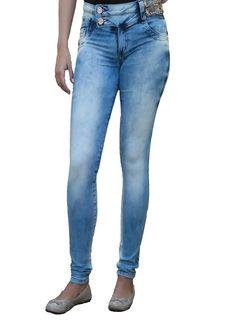 Calça Jeans feminina Biotipo cós médio