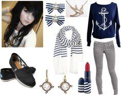 """Sailor Outfit"" by kierakittehbear on Polyvore"