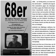 """Otto Köhlmeier kam 1968 als Neunzehnjähriger nach Graz, um dort zu studieren und hat die wilden Jahre von """"Peace, Love and Happiness"""" bewusst miterlebt."""