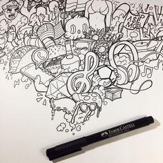 doodle drawing drawings doodles vexx sketch easy draw pencil sketches katie simple dragon tutorialcuy disimpan dari