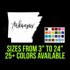 State of Arkansas Nebraska State, State Of Michigan, Custom Car Vinyl Decals, Transfer Tape, Laptop Decal, Arkansas, 6 Years, Adhesive, Custom Design