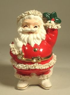 1956 Napco Spaghetti Santa Bank -- I have one of these!  Had it since I was a little girl and started collecting banks.  Bring it out every Christmas!