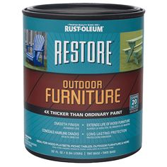 Refresh your weathered exterior wood furniture, picnic tables, playsets and more with Restore Outdoor Furniture. 4X thicker than ordinary paint, it fills hairline cracks with a smooth finish extending the life of your wood furniture.
