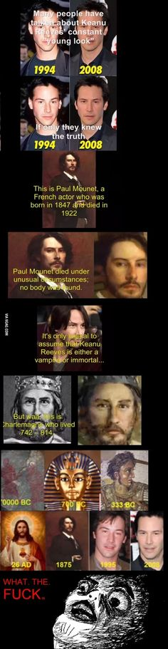 Keanu Reeves | 12 Pop Culture Icons Who Are Probably Time Lords, sorry for the language