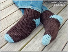 Download Now  CROCHET PATTERN Man Socks  by hollanddesigns on Etsy, $5.50