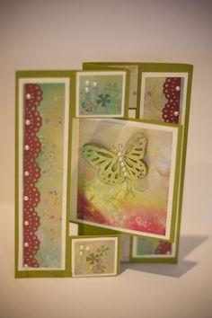 Butterfly swing card