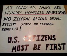.How about we take care of our American citizens first??????????
