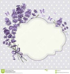 Cute vintage greeting or invitation card with hand drawn floral elements in engraving style - fragrant lavender. Diy And Crafts, Paper Crafts, Shabby Chic Wall Decor, Borders And Frames, Borders Free, Printable Labels, Printables, Vintage Diy, Free Vector Art