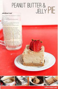 pb & jelly pie: vegan, GF, no bake, whole grain, yadda yadda yadda. IT LOOKS EFFIN DELICIOUS.