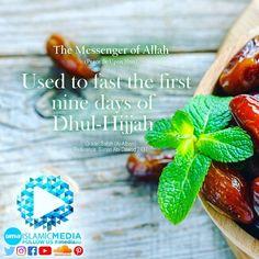 The Messenger of Allah (ﷺ) used to fast the first nine days of Dhul-Hijjah  Grade : Sahih (Al-Albani)  Reference : Sunan Abi Dawud 2437  #fasting #hajj #haj #nine #9 #prophetmuhammadﷺ #prophet #eidmubarak #eidaladha #sunnah #islam #islamicmedia #uma #unitedmuslimsofaustralia