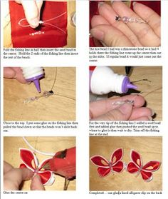butterfly kanzashi tutorial