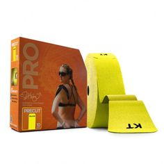 KT Tape Pro Jumbo Rolls - 150 Precut Strips - Solar Yellow