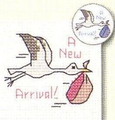 Stork: Cross stitch (Mouseloft, 014-443stl)