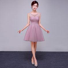 10e79d29f0da 5 barev přizpůsobené levné růžové krátké chiffion družičky šaty 2016 Plus  velikost šaty krystal bílé toaletní