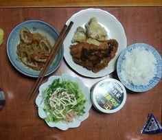 12月7日(月) 晴れ 豚ヒレ肉 かいわれサラダ 千切り大根 キムチ 64.85