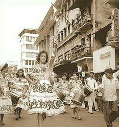 Desfile Patrios tiempos Antiguo #tradtional #Panamanian dress