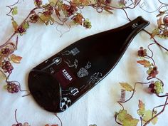 Slumped glass wine bottle cheese plate from Karma Winery $25.00