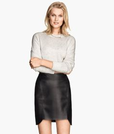 Imitation Leather Skirt | Product Detail | H&M