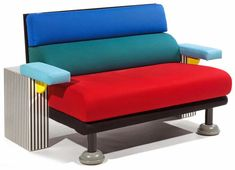 "The ""Lido"" sofa by Michele de Lucchi for Memphis '82. Offered in cotton or wool. app. 60″x35″x35″"
