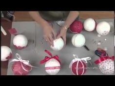 A video tutorial: 5 Christmas ornaments in 5 minutes! | Crafts 'n Coffee