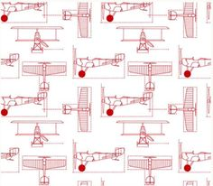 "Fitted Crib Sheet In ""flight School Blueprints"" Design Your Own Modern Nursery…"