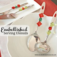 Embellished Serving Ware ~ Christmas Colored Craft Idea