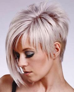 You may see here the wonderful ideas of undercut short pixie haircuts for women and girls to show off right now. This is one of the best styles among all the short pixie haircuts in year the Rest] Short Straight Haircut, Edgy Short Haircuts, Long Pixie Hairstyles, Straight Hairstyles, Asymmetrical Haircuts, Asymmetric Hair, Short Hair Back View, Elegant Hairstyles, 2014 Hairstyles