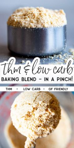THM Friendly Baking Blend Recipe is an easy way to substitute for Trim Healthy Mama Baking Blend if you run out and need a replacement quickly. This is THM S friendly low carb and gluten free friendly and so nutritious! Trim Healthy Mama Diet, Trim Healthy Recipes, Low Carb Recipes, Lunch Recipes, Baking Blend Recipe, Baking Recipes, Sin Gluten, Gluten Free, Low Carb Breakfast
