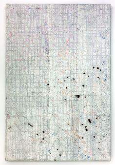 Kadar Brock  demieb, 2008-2011.  Oil, acrylic, flashe, house and spray paint on canvas.  72 x 60 in
