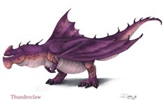 Please ignore title idek :'D ----- Click me to see all the HTTYD dragons done so far! ----- The Thunderclaw is © to Dreamworks and Cressida Cowell Art is © me! Httyd Dragons, Cool Dragons, Dreamworks Dragons, Fantasy Creatures, Mythical Creatures, How To Train Dragon, Dragon Rider, Wings Of Fire, Dragon Art