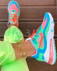 AIR MAX 270 REACT What do you guys think of this colorway? I love how it's see… AIR MAX 270 REACT 🍭 What do you guys think of this colorway? 💬 I love how it's see-through so I can match my socks however I like 😋 Cute Nike Shoes, Cute Nikes, Cute Sneakers, Nike Air Shoes, Sneakers Nike, Women Nike Shoes, Cute Nike Outfits, Mens Puma Shoes, Guy Outfits