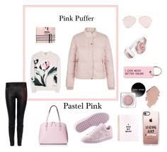 """Pink Puffer Jacket"" by whitecastlenine on Polyvore featuring New Look, Puma, Kate Spade, Burberry, Alexander McQueen, Beats by Dr. Dre, Casetify and Various Projects"