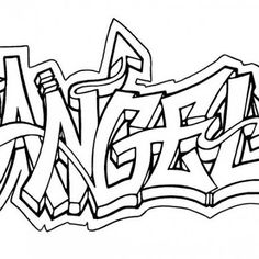 Graffiti style art is funky and cool. It can also spread a beautiful message as well. Make these Graffiti Coloring Pages fun and beauti Graffiti Alphabet, Graffiti Writing, Graffiti Lettering, Graffiti Tattoo, Graffiti Kunst, Graffiti Pictures, Easy Graffiti Drawings, Cool Easy Drawings, I Love You Drawings