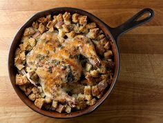 Welcome to your Sunday dinner: Skillet Chicken with Herb Dressing - Framed Cooks
