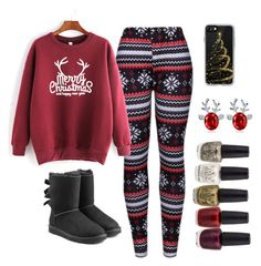 """""""Merry Christmas!"""" by ravenclaw22 on Polyvore featuring WithChic, UGG and Casetify"""