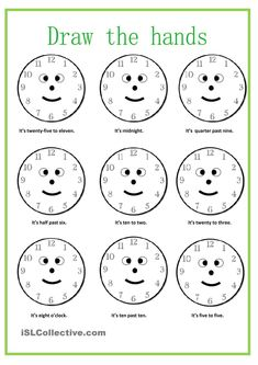 What time is it? worksheet Free ESL printable worksheets made by teachers English grammar Clock Worksheets, Free Kindergarten Worksheets, Teacher Worksheets, School Worksheets, Printable Worksheets, Fractions Worksheets, Free Worksheets, Free Printable, English Language Learning