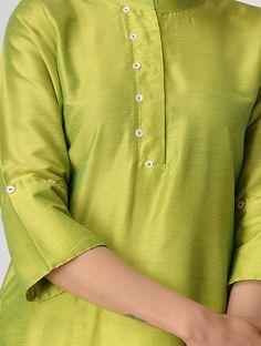 Buy Green Cotton Silk Kurta Online at Jaypore.com