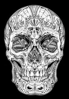 Resultado de imagem para skull design Skulls, Darkness, Nova, Tattoo Ideas, Tattoo, Skeletons, Skull, Dark