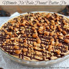 Ultimate No Bake Peanut Butter Pie | ButtercreamBlondie.com
