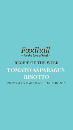 Veggie Italian Recipes, Sign Off, Asparagus, Risotto, Veggies, Love, Easy, Amor, Studs